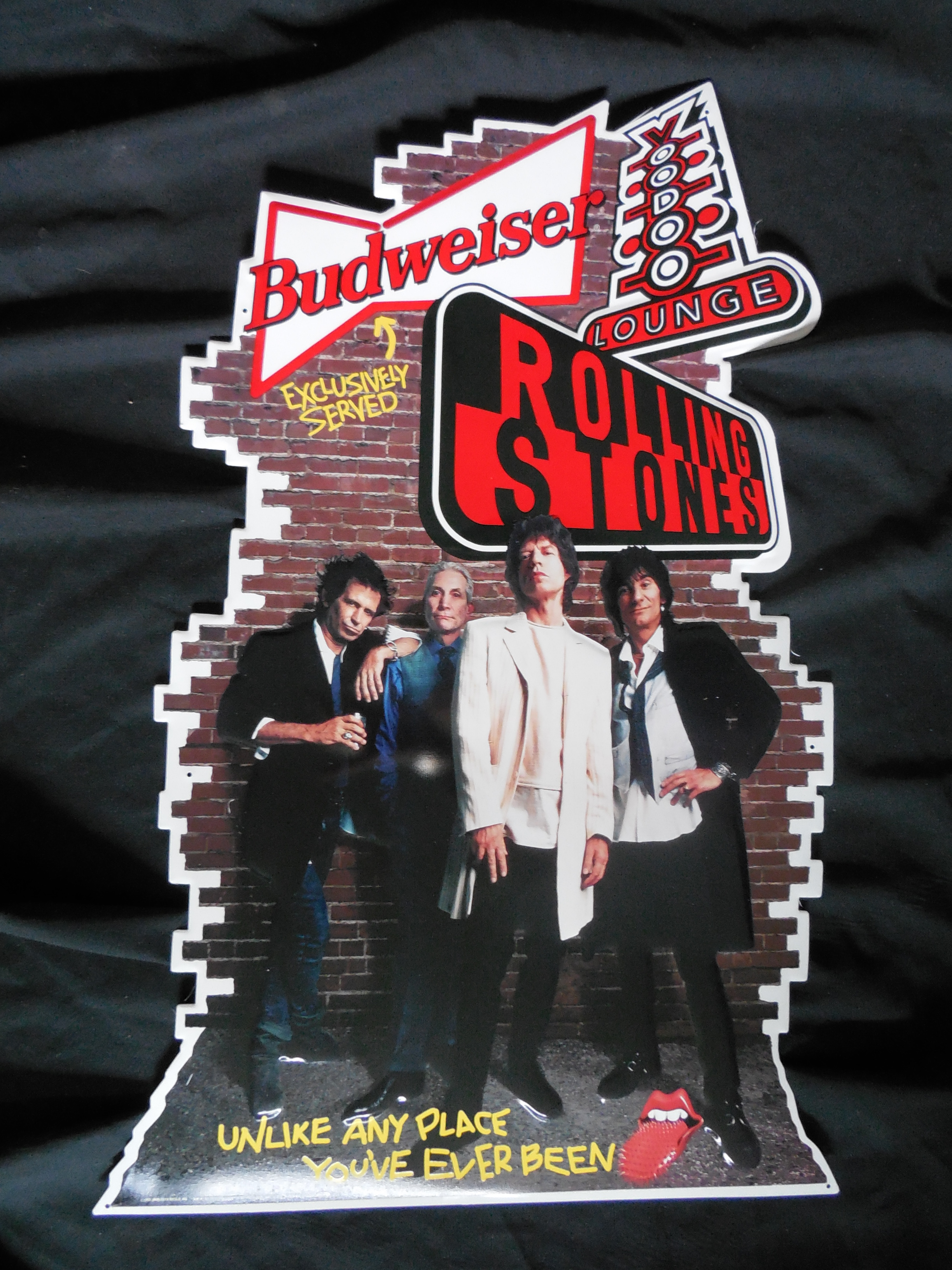 Rolling Stones Voodoo Lounge Promo Die Cut Metal Sign
